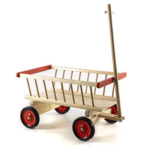 HolzFee Kinder Handwagen Holz 50 cm vormontiert