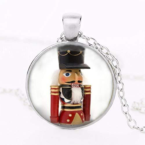 Weihnachtsschmuck Nussknacker Halskette Spielzeug Soldat Art Anhänger Vintage Choker Halskette Damen Herren Modeschmuck