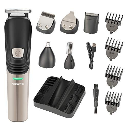 Price comparison product image Beard Trimmer 6 in 1 Hair Clipper Electric Trimmer Shaver and Nose Trimmer Electric Razor Professional Grooming Kit