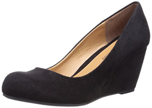 Cl by Chinese Laundry Women's Nima Wedge Pump, Black Super Suede, 7.5 M US