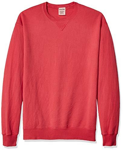 Hanes Men's ComfortWash Garment Dyed Fleece Sweatshirt, Crimson Fall, X Large