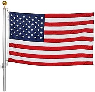 Ezpole Flagpole, Defender Flagpole Kit, Fly Multiple Flags, 17-Feet