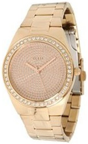 GUESS U11663L1 Sporty Radiance Watch, Rose Gold: Watches