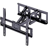 Full Motion TV Wall Mount Bracket for Most 26-55 Inch LED, LCD, OLED Flat&Curved TVs Dual Articulating Arms Swivel Extension Tilt Rotation, Max VESA 400x400mm, Supports up to 99lbs by ERGO-INNOVATE