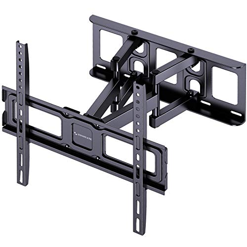 TV Wall Mount Bracket Full Motion for Most 26-55 Inch LED, LCD Flat Curved TVs Dual Articulating Arms Swivel Extension Tilt Rotation, Max VESA 400x400mm, Supports up to 99lbs by ERGO-INNOVATE
