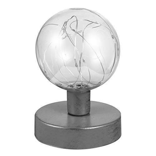 SOLUSTRE Vintage Tischlampe Industrielle Klare Runde Kugel Schreibtischlampe Kupferdraht Nachttischlampe Nacht Fee Nachtlicht für Weihnachten Geburtstagsgeschenk