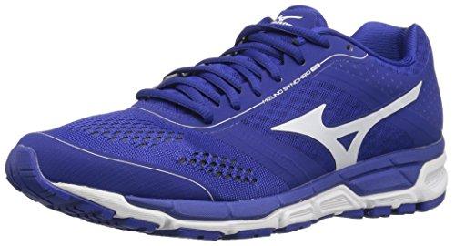 Mizuno Men's Synchro mx Baseball Shoe, Royal White, 8.5 D US