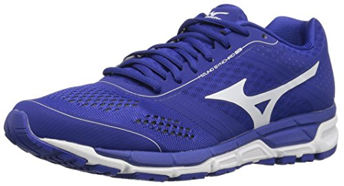 Mizuno Men's Synchro mx Baseball Shoe, Royal White, 8.5 D US