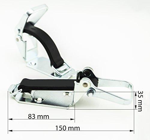 USP1 universal Spannverschluss von SMI-Kantenschutzprofi - Werkzeughalter - Stielspannverschluss - Spanngummi 90mm - ermöglicht das Fixieren von Gegenständen mit bis zu 60mm Durchmesser (1 Stk)