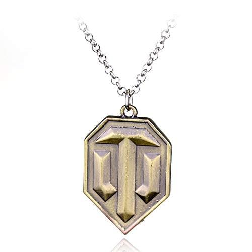 AdorabFruit Présent Pendentif Colgante, Collar de la Bandera de Bronce del Collar de Las Mujeres de los Hombres Frescos de la Manera Accesorios de joyería