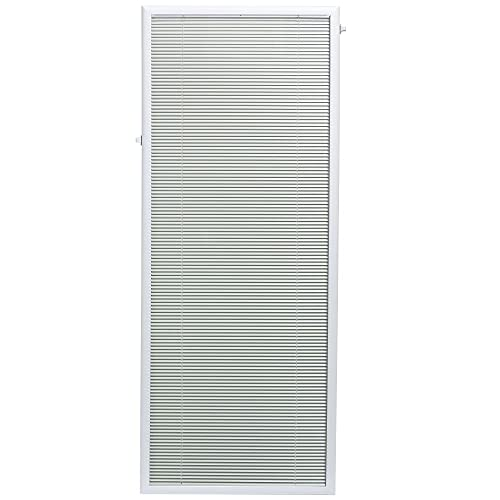 ODL Add On Blinds for Flush Frame Doors - Outer Frame Measurement 25' x 66'- Home Improvement - Easy to Install, Use and Maintain - Innovative Window Shades Protected Behind Tempered Safety Glass