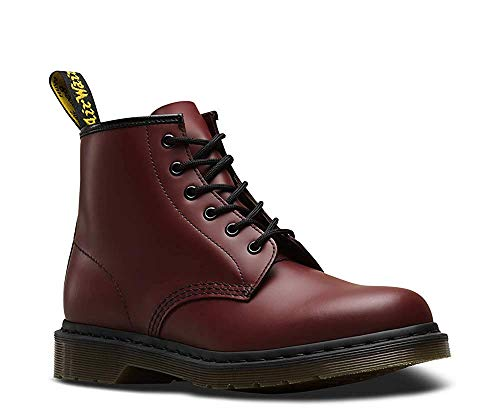 Dr. Martens Unisex-Adult 101 6-Eye Boot (12 UK, Cherry Red Smooth)