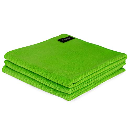 Mistify Microfibre Cleaning Cloth - [Lint Free for Use on TVs, Computers, Tablets, Phones, Retina Screens - Green] - (Pack of 6)