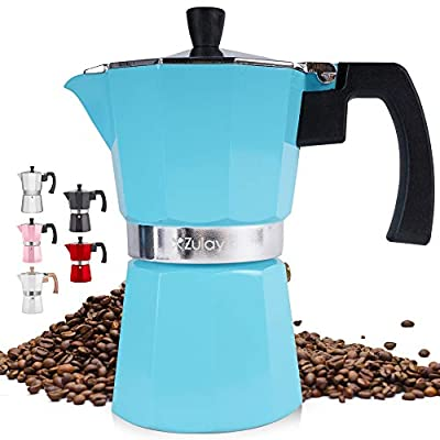 Classic Stovetop Espresso Maker for Great Flavored Strong Espresso, Classic Italian Style Espresso Cup Moka Pot, Makes Delicious Coffee, Easy to Operate & Quick Cleanup Pot - by Zulay Kitchen