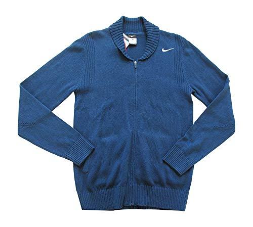 Nike Sportswear Full Zip Cardigan Wolle Pullover 546493411Slate Blau Jumper Gr. Small, blau