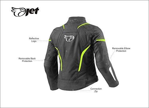 JET Motorradjacke Damen Textil Wasserdicht Winddicht Mit Protektoren - 4