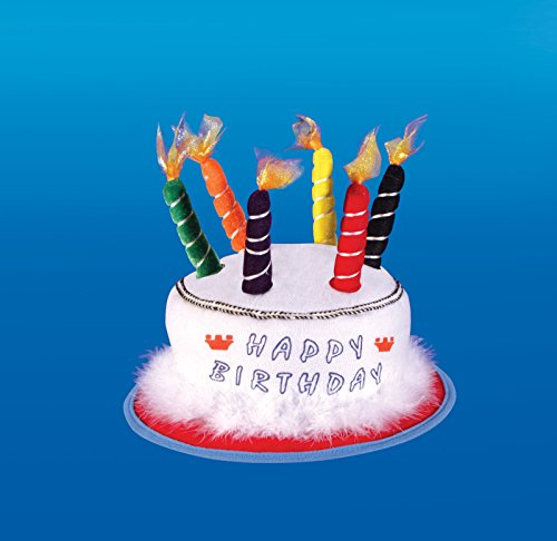 Chapeau Happy Birthday avec bougies
