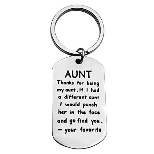 Aunt Keyring Aunt Gift for Aunties Gift from Niece Nephew Best Aunt Valentines...