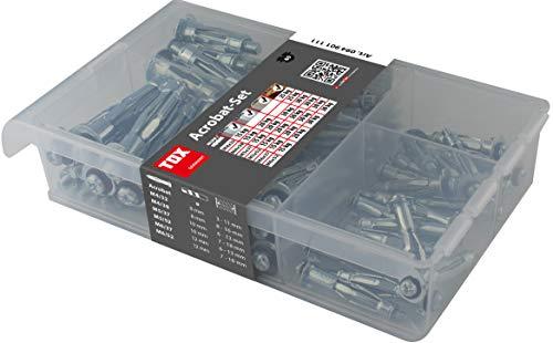 TOX Metall-Hohlraumdübel-Sortiment Acrobat Set verzinkt 60 tlg., für Befestigungen in Gipskartonplatten, 1 Stück, 094901111