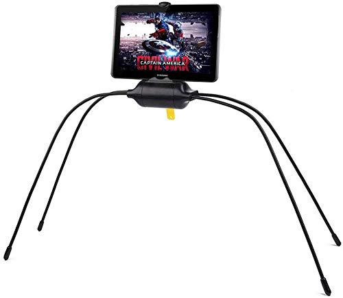 Soporte de Tableta para CamaTitular para iPad para Sofá & Mesa Soporte Portátil Universal Ajustable Móvil Apto para Todas Las Superficies Lisas y Desiguales (Black)