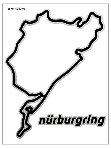 quattroerre 6329adhesivo circuito Nurburgring Tabella dimensiones 10x 12cm