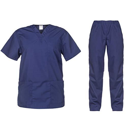 B-well Cesare - Conjunto de ropa de rascar unisex y pantalón de chándal para médicos y médicos marine XXXXL
