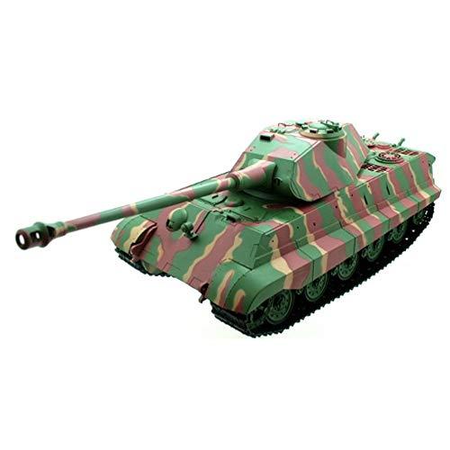 RC ferngesteuerter Königstiger-Panzer mit Porsche-Turm und Metallgetriebe im Modell-Maßstab 1:16, Mit Schuss, Sound und Rauch