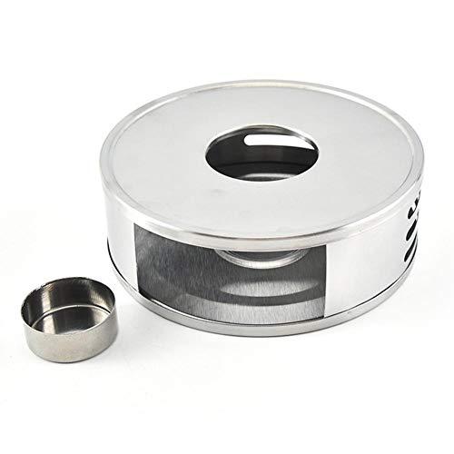 Foliner calentador de tetera redondo de acero inoxidable calentador de tetera base hueca marco calentador vela calefacción café leche placa calentador para teteras de vidrio borosilicato