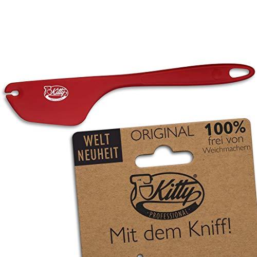 Kitty Professional Teigschaber 2in1 Silikon Teigspachtel, Zubehör: Küchenhelfer sauber abstreifen | Teigschneider für KitchenAid Backzubehör Kitchen Aid Küchenmaschine Schüssel Handmixer Backen
