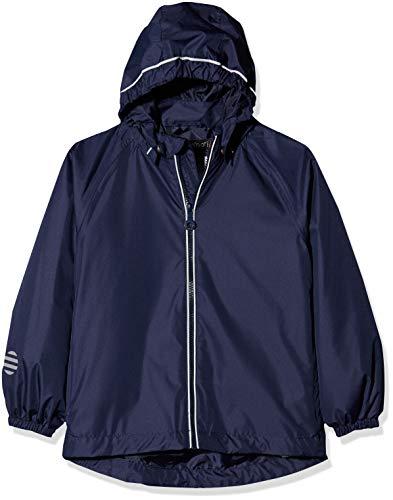 MINYMO Basic 22-Rain Jacket-Solid Imperméable, Bleu (Dark Navy), 4 Ans (Taille Fabricant:104) Garçon