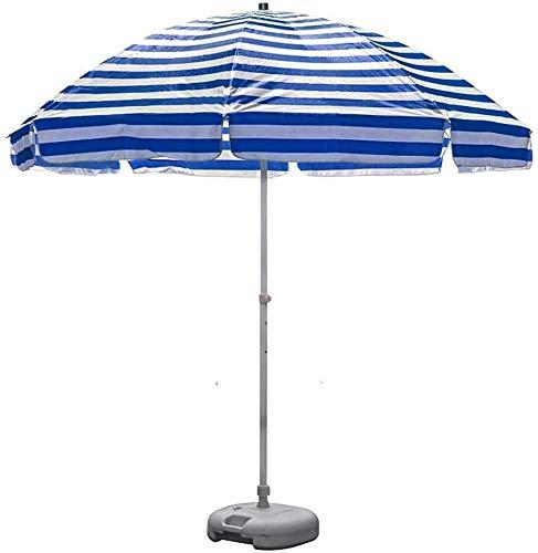 YYCHJU Parasole para Terraza Jardín Playa Balcón Piscina 8.2'Outdoor Sombrilla for el Patio, Mercado Tabla Paraguas con 8 Costillas y Robusta Crank, Playa portátil de Rayas Paraguas UV 50+