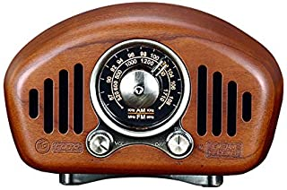 Iycorish Retro 5.1 Speaker Cherry Wooden AM FM Style Radio Strong Bass Enhancement Volume TF Card & MP3 Player
