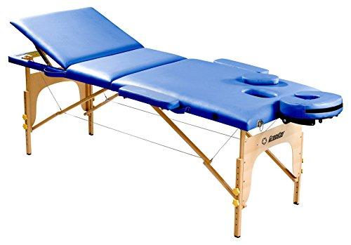 Gregster Massagelbed, in hoogte verstelbaar, hout, PU-leer, 5 cm fijncelschuim, belastbaar tot 200 kg, inklapbaar incl. draagtas