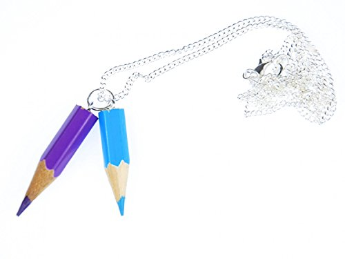 Miniblings Buntstift Kette Halskette Einschulung Malen Schule Upcycling 60cm