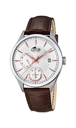 Lotus Watches Reloj Multiesfera para Hombre de Cuarzo con Correa en Cuero 18577/1