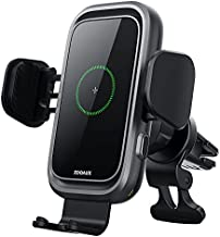 [2021 Version] ZOOAUX Wireless Car Charger, 15W/10W/7.5W Qi Fast Charging Auto-Clamping Air Vent Mount Phone Holder,Built-in Cooling Fan for iPhone 12/11/XR/X/8, Samsung S21/S20/Note10,Pixel 4XL,LG