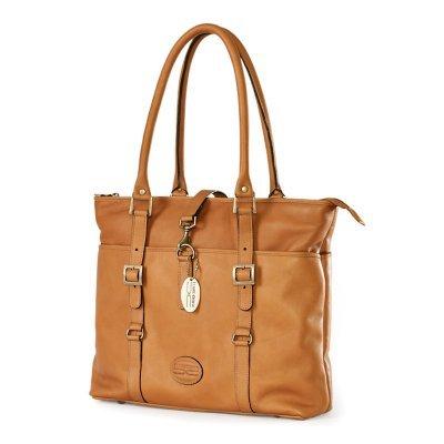 Ladies Computer Tote Bag Color: Saddle