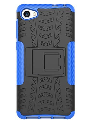 XINFENGDI Alcatel A5 LED Hülle,Handytasche Kratzfest aus TPU/PC Material Reifenprofil Handyhülle Kompatibel mit für Alcatel A5 LED - Blau