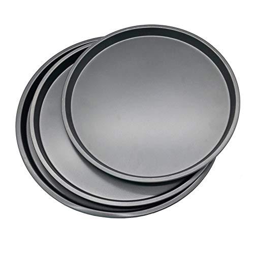 3Pcs Pizza Pans Set Carbon Steel Nonstick Round Pizza Pan