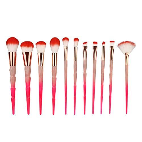LJTJX Pinceau De Maquillage 11 Pcs Maquillage Fondation Eyeliner Blush Cosmétique Anti-Cernes Pinceau Maquillage Pinceau