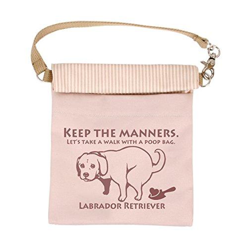 LIP2001 抗菌消臭マナーポーチ (ラブラドール・レトリバー, ピンク) 犬 ドッグ ペット 消臭 抗菌 光触媒 お散歩 消臭ポーチ ウンチポーチ ウンチ袋 お出かけ グッズ