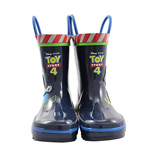 Amazon Essentials Kids' Disney Rain Boot, Blue, 11/12 Medium US Toddler