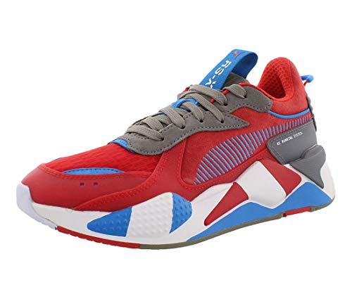 PUMA Men's Sneaker, High Risk red-Steel Gray-Indigo Bunting, 8 M US