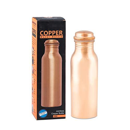 Aanand Beneficios de la botella de cobre sin juntas del Cuerpo de Salud Ayurveda ML Multicolor