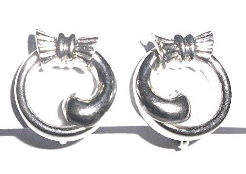 sd.h Coro Ohrringe Ohrschrauben ! 1940 1950 Amerika USA Luxus Designer Hollywood Diamonds Rhodium plated Schmuck