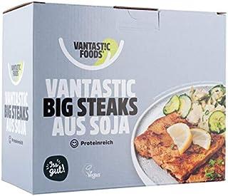 Vantastic foods Big Steaks 500g   Fleischersatz VEGAN   Soja Steaks als Fleischalternative mit Protein   Vegane Schnitzel ...