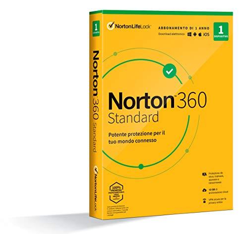 Symantec Norton 360 Standart 2020 Vollversion 1 Lizenz/1 Jahr