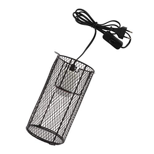 FLAMEER Terrarium Lampenschutzkorb Lampenschirm mit E27 Lampenfassung für Wärmelampe