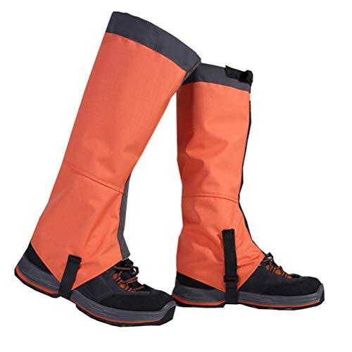 Ochraniacze na nogi, wodoszczelne ochraniacze na rakiety śnieżne, wędrówki, polowanie, bieganie, odporna na rozdarcie tkanina Oxford, pas napinający TPU, metalowe haczyki do sznurowania do użytku na zewnątrz
