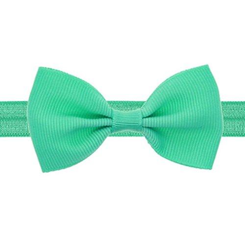 YUYOUG Bébé Enfants Filles Mini Bowknot Bandeau Bandeau élastique (Mint Green)